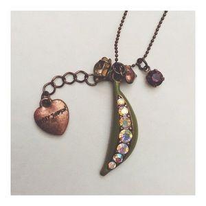 Jewelry - Betsey Johnson Pea Pod Charm Necklace